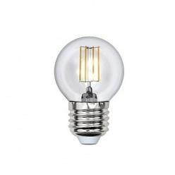Лампа Uniel LED-G45-6W/WW/E27/CL PLS02WH