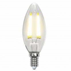 Лампа Uniel LED-C35-6W/WW/E14/CL PLS02WH