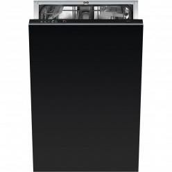 Черная Встраиваемая посудомоечная машина Smeg STA4505