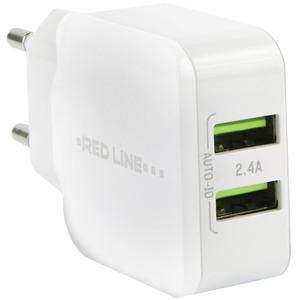 Зарядное устройство Red Line Superior  Fast Charger (2 USB /2.4 A), белый