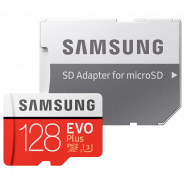 Карта памяти Samsung MicroSDHC 128GB Class 10 EVO Plus (MB-MC128GARU)