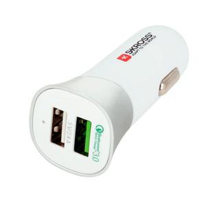 Автомобильное зарядное устройство Skross Dual USB Car Charger - Quick Charge 3.0