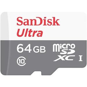 Карта памяти SanDisk MicroSDHC 64Gb Ultra Android (SDSQUNS-064G-GN3MA)