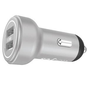 Автомобильное зарядное устройство Dotfes B05 Dual 2 USB 3.4A, Silver