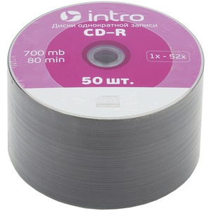 Диск INTRO CD-R 700Mb, 52x Shrink 50