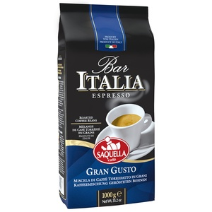 Кофе в зернах Saquella BAR ITALIA Gran Gusto