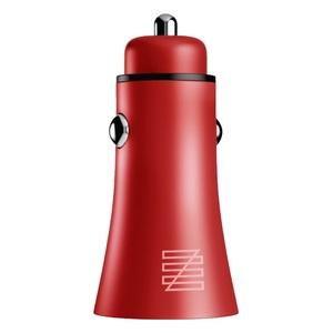 Автомобильное зарядное устройство Lenzza Razzo Metallic Car Charger MFi 2 USB, красный
