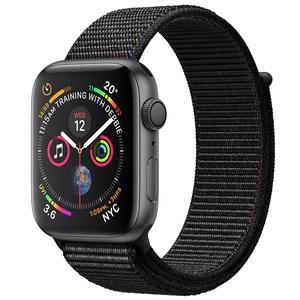 Умные часы Apple Watch Series 4 44 мм серый космос, спортивный браслет
