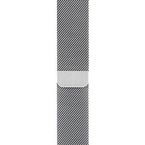 Ремешок для умных часов Apple Milanese Loop 44 мм, серебристый (MTU62ZM/A)