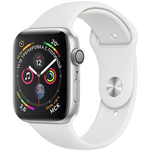 Умные часы Apple Watch Series 4 40 мм серебристый, спортивный ремешок