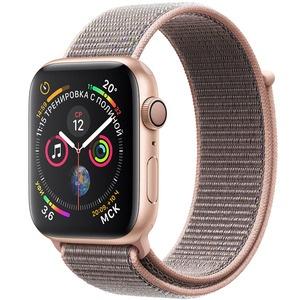 Умные часы Apple Watch Series 4 44 мм розовый песок, спортивный браслет