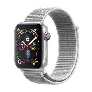 Умные часы Apple Watch Series 4 40 мм белая ракушка, спортивный браслет