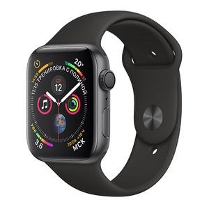 Умные часы Apple Watch Series 4 40 мм серый космос, спортивный браслет