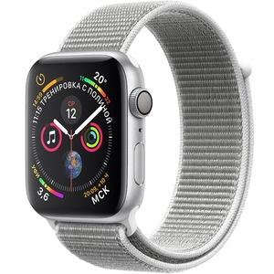 Умные часы Apple Watch Series 4 44 мм белая ракушка, спортивный браслет