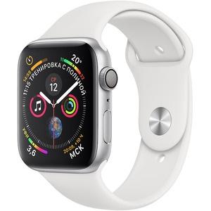 Смарт-часы Apple Watch Series 4  44 мм серебристый, спортивный ремешок