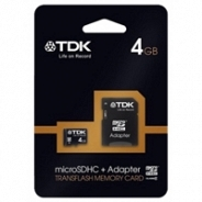 Карта памяти TDK Micro Secure Digital 4GB