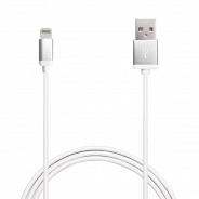 Аксессуар Apple Puro Lighting Metal Cable Satin Silver 1m, (CAPLTMETALSIL) MFI