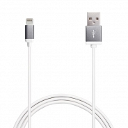 Аксессуар Apple Puro Lighting Metal Cable Space Gray 1m, (CAPLTMETALSPACEGREY) MFI