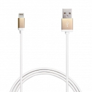 Аксессуар Apple Puro Lighting Metal Cable, Gold 1m, (CAPLTMETALGOLD) MFI