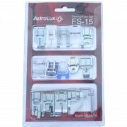 Аксессуар для швейной машины Astralux набор лапок 15 в 1 (FS15)