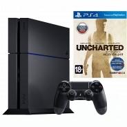 Игровая приставка Sony PlayStation 4 1000 Gb черный + Uncharted Collection