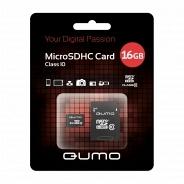 Карта памяти Qumo MicroSDHC 16GB Class 10 SD adapter