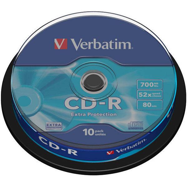 купить Диск Verbatim CD-R 700MB 52x, Сake (43437) - цена, описание, отзывы - фото 1