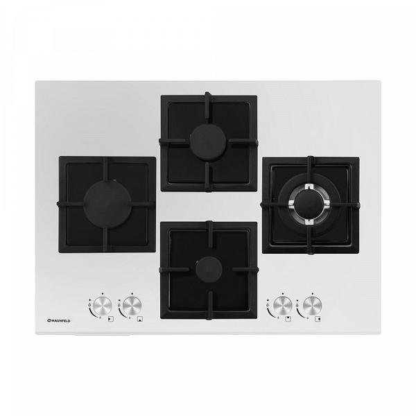 купить Варочная поверхность Maunfeld GH 724 G-MCW белый - цена, описание, отзывы - фото 1
