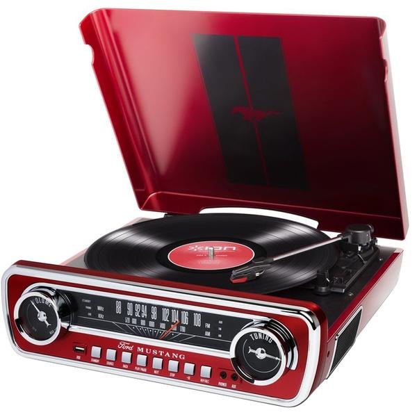 купить Проигрыватель виниловых пластинок ION Audio Mustang LP с радио (FM-AM) Red - цена, описание, отзывы - фото 1