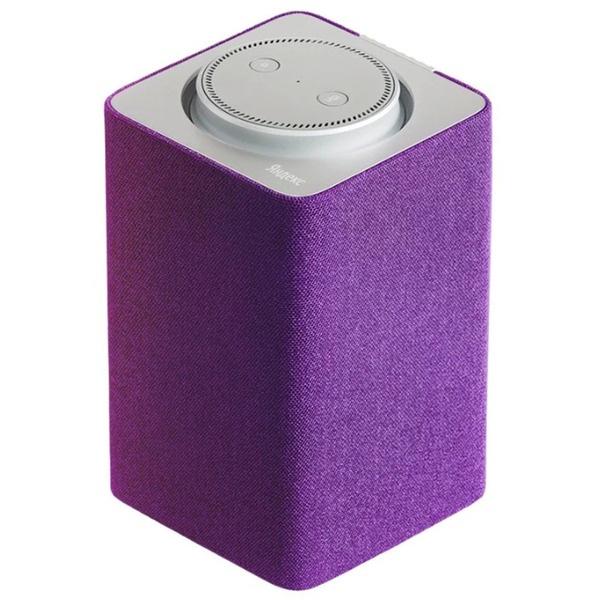 купить Портативная акустика Яндекс. Станция с голосовым ассистентом Алиса, фиолетовая - цена, описание, отзывы - фото 1