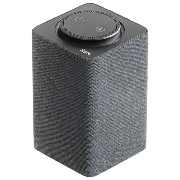 купить Портативная акустика Яндекс. Станция с голосовым ассистентом Алиса, черная - цена, описание, отзывы - фото 1