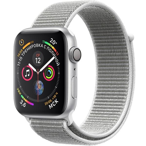 купить Умные часы Apple Watch Series 4 44 мм белая ракушка, спортивный браслет - цена, описание, отзывы - фото 1