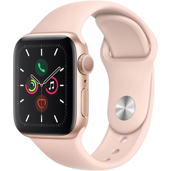 купить Умные часы Apple Watch Series 5 40 мм розовый песок, спортивный ремешок - цена, описание, отзывы - фото 1