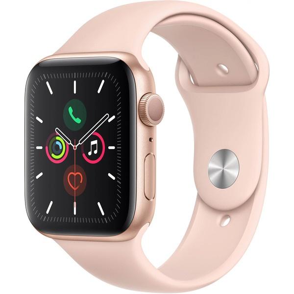 купить Умные часы Apple Watch Series 5 44 мм розовый песок, спортивный ремешок - цена, описание, отзывы - фото 1