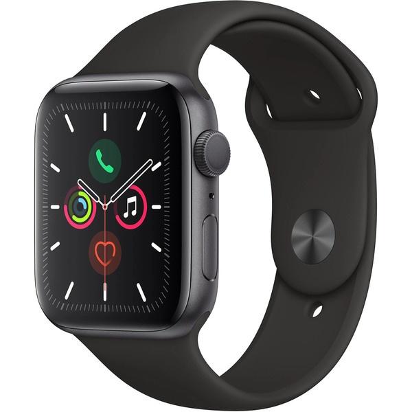 купить Умные часы Apple Watch Series 5 44 мм серый космос, спортивный ремешок - цена, описание, отзывы - фото 1