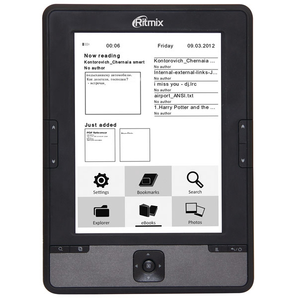 купить Электронная книга Ritmix RBK-610 - цена, описание, отзывы - фото 1