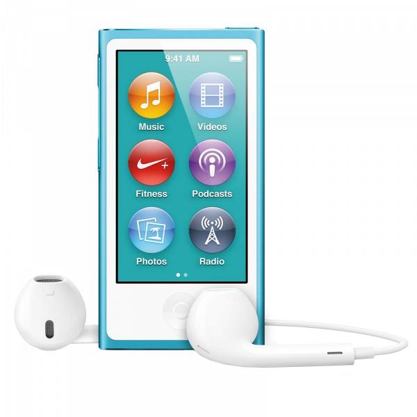 купить MP3-плеер Apple iPod nano 7 16Gb Blue - цена, описание, отзывы - фото 1