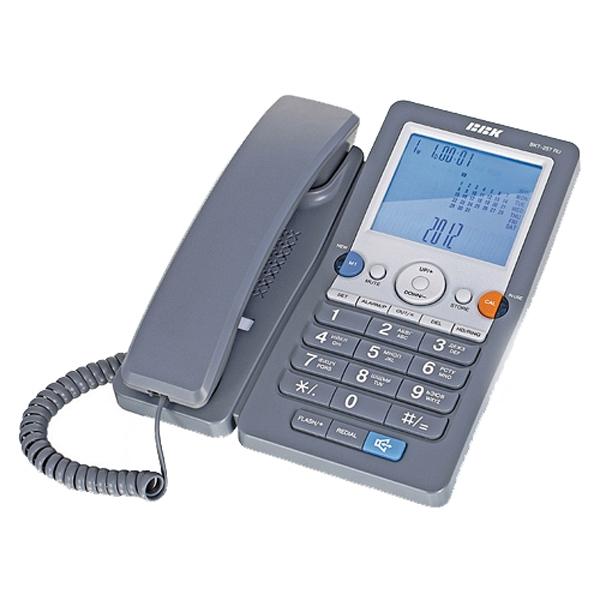 купить Проводной телефон BBK BKT-257 RU серый - цена, описание, отзывы - фото 1