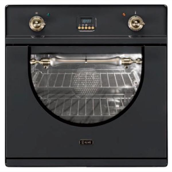купить Духовой шкаф ILVE 600 AMP/MX графит, ручки хром - цена, описание, отзывы - фото 1