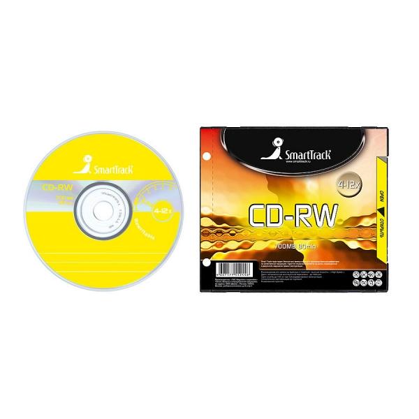 купить Диск SmartTrack CD-RW 80min 4-12x SL-1/100/ (ST000196) - цена, описание, отзывы - фото 1