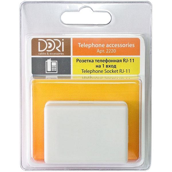 купить Телефонная розетка DORI 6P4C - цена, описание, отзывы - фото 1