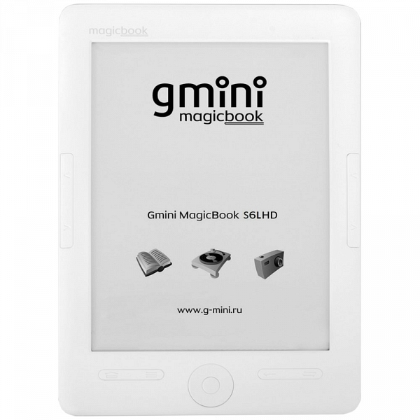 купить Электронная книга Gmini MagicBook S6LHD White - цена, описание, отзывы - фото 1