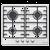 Варочная поверхность Maunfeld EGHS.64.3ES