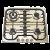 Варочная поверхность ILVE H 60 CNV/O br.brass, ручки латунь