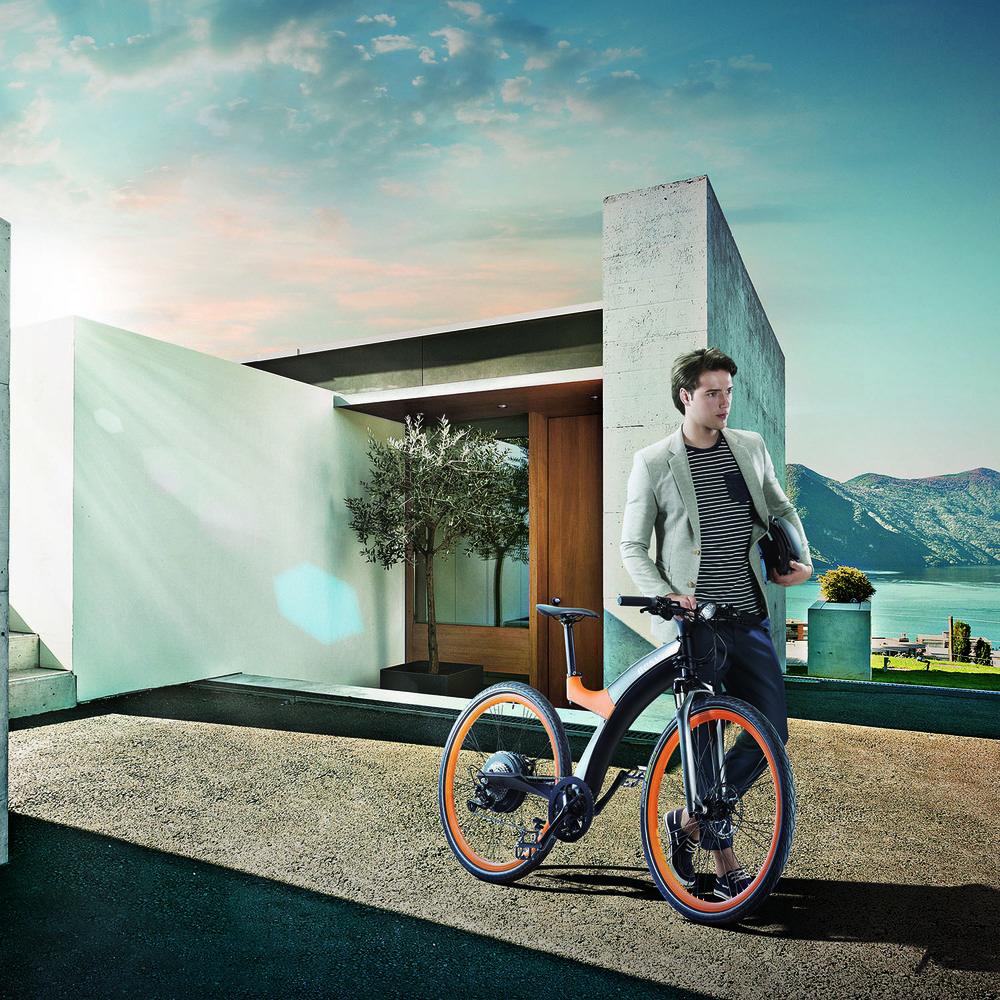 Электровелосипед BESV Lion LX1 оранжевый в интерьере - фото 2