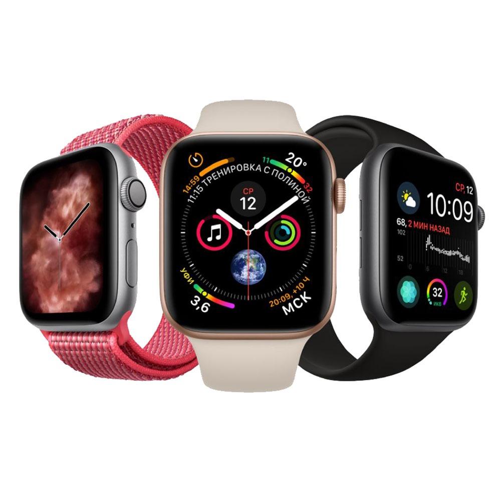 Смарт-часы Apple Watch Series 4  44 мм серый космос, спортивный ремешок в интерьере - фото 5