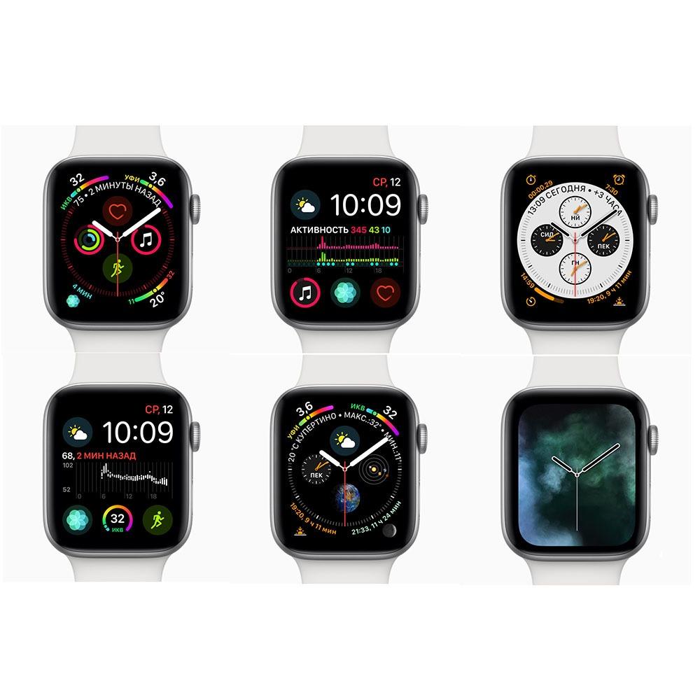 Смарт-часы Apple Watch Series 4  44 мм серый космос, спортивный ремешок в интерьере - фото 6