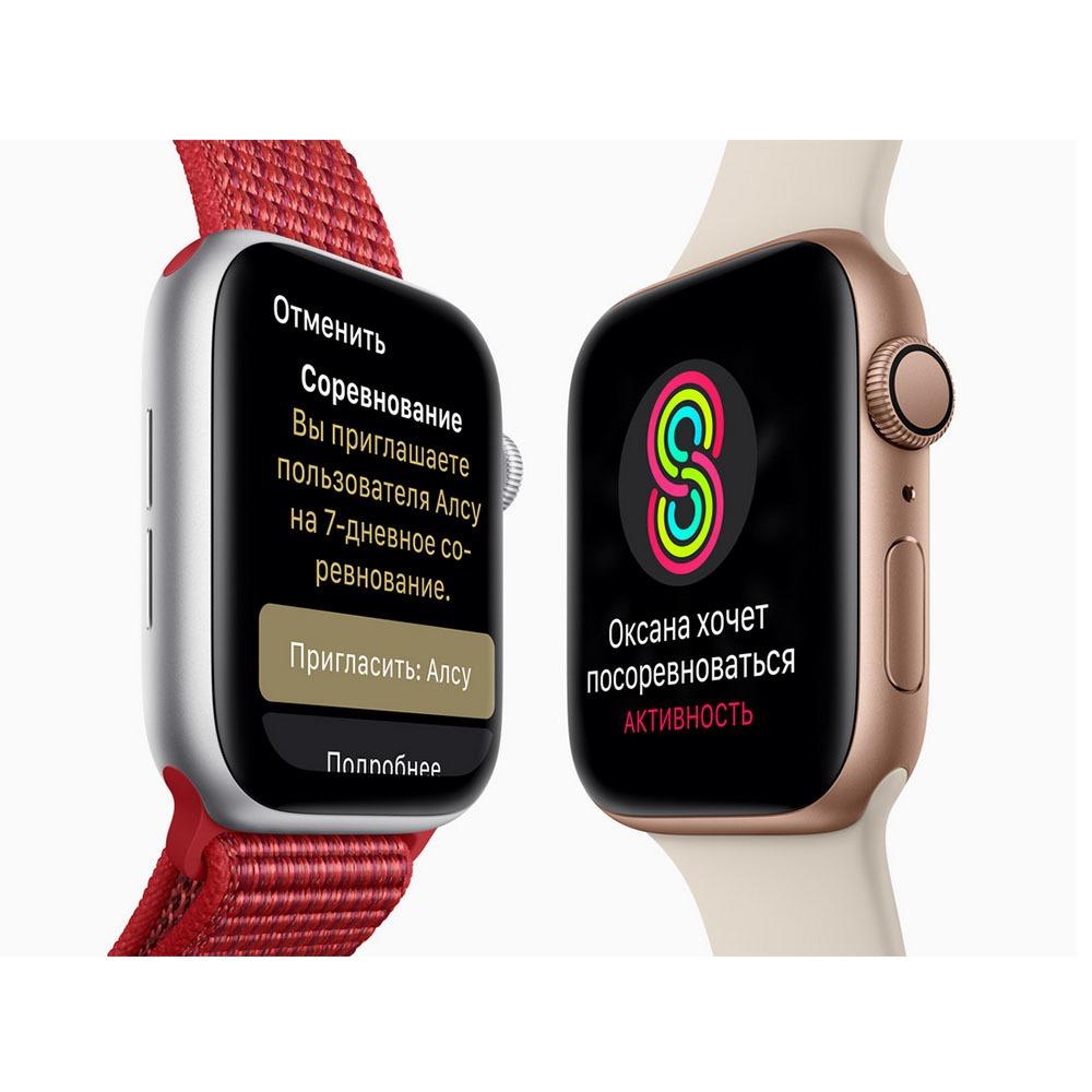 Смарт-часы Apple Watch Series 4  44 мм серый космос, спортивный ремешок в интерьере - фото 8
