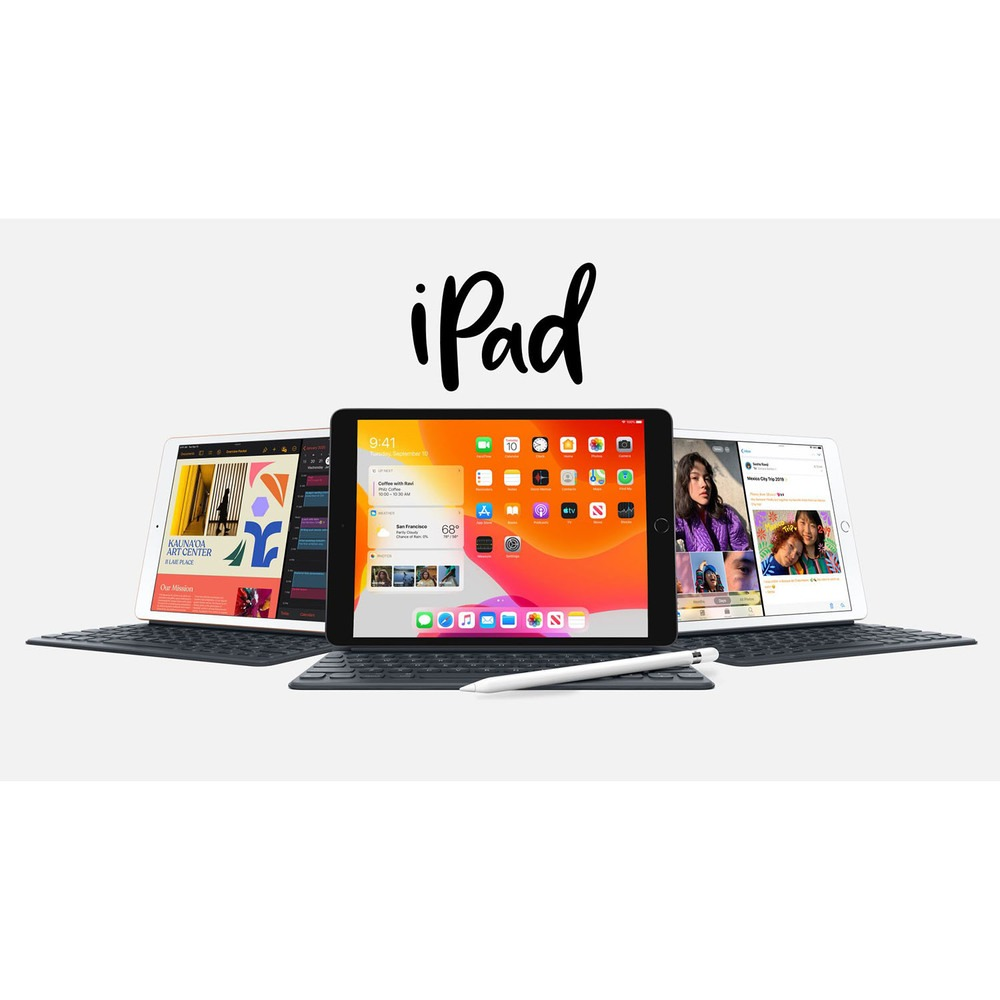 "Планшет Apple iPad 10.2"" Wi-Fi 32GB Silver в интерьере - фото 1"